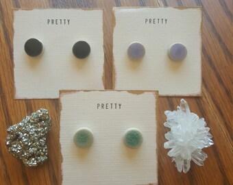 Ceramic Dot Earrings