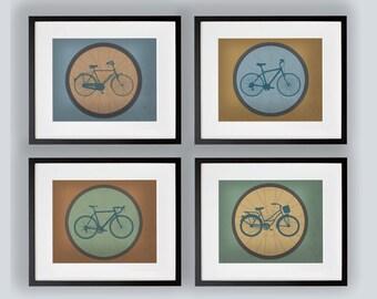 Set of 4 Bike Prints 8x10, 11x14, 13x19