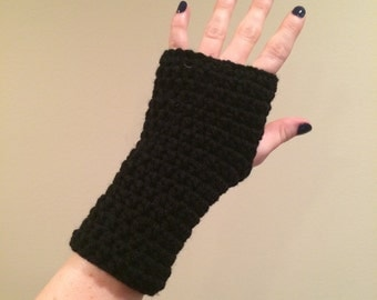 Solid Fingerless Gloves, can be custom made to your size and color