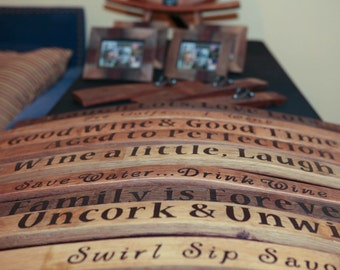 Wine Barrel Stave Sign