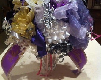 Custom Wedding Rehearsal Gift Wrap Bouquet - Made with YOUR Ribbons and Bows!