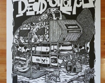 "Silkscreen poster ""Dead Silence"""