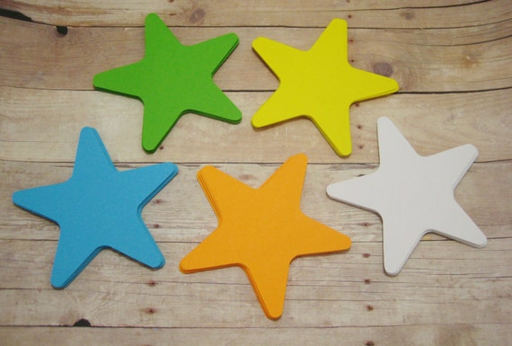 Cardstock Star Cutouts-Paper Starfish Shapes-Paper Star