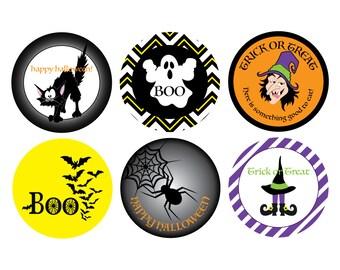 Halloween Sticker treat bag stickers Halloween gift Label halloween favor label treat bag Halloween Gift Party Favor Sticker halloween label