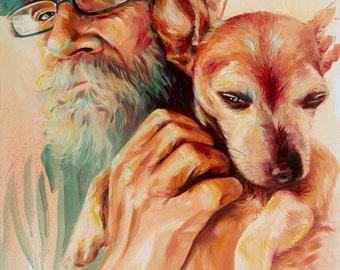 James and Charley_Artist's Giclee Print 2015