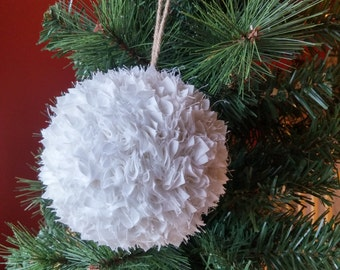 Fabric Snowball Ornament