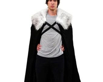 Men's Jon Snow Night's Watch GoT Cosplay Cloak Cape (Game of Thrones Costume)