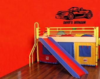 Porsche Vinyl Decal Wall Sticker customized kid's Beedroom Trendy car decal car sticker exotic car