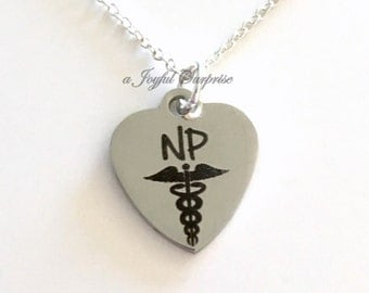 NP Gift, NP Necklace, NP Jewelry Gift for Nurse Practitioner Gift Charm Graduation Present for Man Men Women birthday gift Christmas present