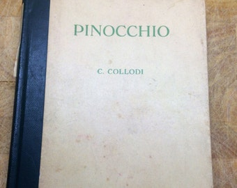 Pinocchio - C Collodi - 1940s pinocchio - italian story - BASIC reader book - James Forsyth