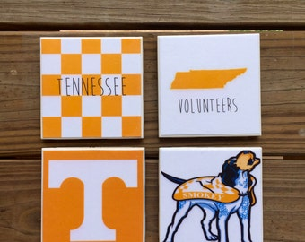 University of Tennessee Set of 4 Coasters