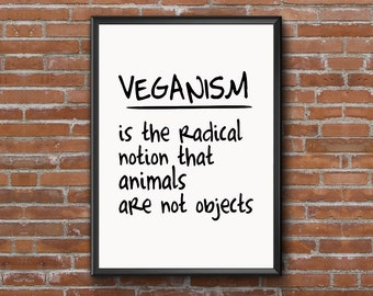 vegan modern art raw Inspirational Quote vegetarian Motivational Quote raw Inspirational Poster Motivational Poster