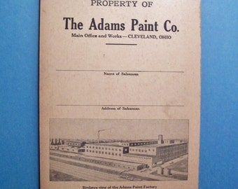THE ADAMS PAINT Co. unused Sales Order Book complete with carbon