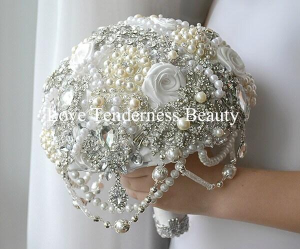 Bridal Jewelry Bouquet Brooch Bouquet Wedding Bouquet Pearl