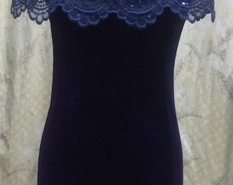 Cute 1980s Blue Mini Dress