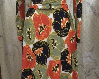 Lord and Taylor Floral Print Maxi Dress, Hippie Dress