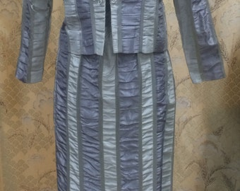 1970s 2 Piece Maxi Dress with Jacket