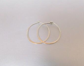 Small Hoop Sterling Silver 925 Earrings 14mm Thin Minimalist