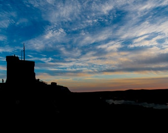 cabot tower sunset