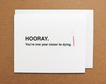 Funny Birthday card, Card for Ex, Cheeky birthday card, Birthday card, Mature birthday card, Sarcastic card, Horrible birthday card