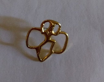 1990's Brownie Girl Scout Brass Pin