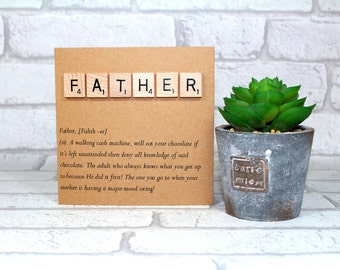 Funny Father's day card - father definition card - card for dad - Father card - Dad card - Father's day card - Birthday card - pops -