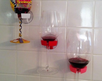 Wine Glass Holder Bathtub Shower Bathroom Valentines Day Special Edition Heart Shaped 3D Printed