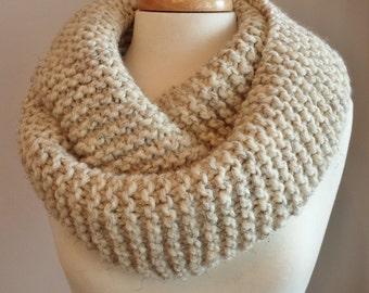 Infinity Scarf Knitting Pattern Garter Stitch : Garter stitch cowl Etsy