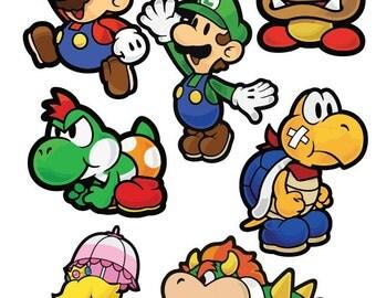 Super Mario Sticker Pack / laptop/ car Decal