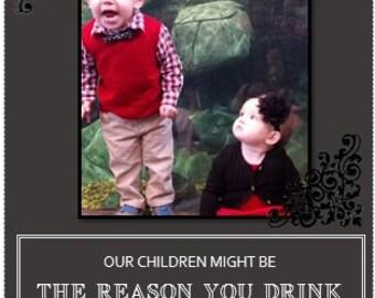 Customized Photo Wine Label