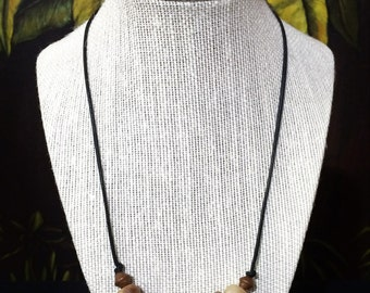 African Trade Bead Boho Necklace. Free Shipping.