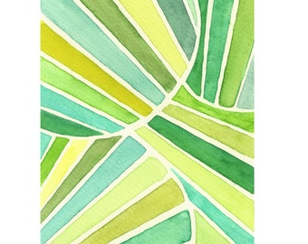 modern abstract watercolor painting abstract stripes minimalist art original abstract painting green line pattern watercolor green art print
