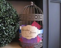 Custom, marriage urn label in the form of retro Medallion