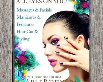 Printable SPA/Salon/Cosmetics Postcard/Poster & Sign