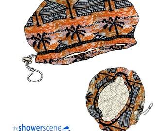 Shower Cap - African Village - Shower Hat for MEN & WOMEN