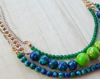 Tropical Summer Collar Necklace
