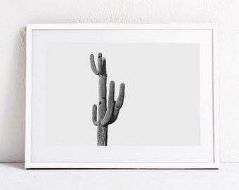 Cactus Print, Minimalist Print, Black and White Wall Art Print, landscape photography PRINTABLE Art, large wall art Modern Art DIGITAL PRINT