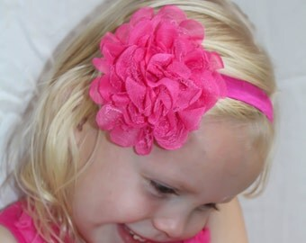 Bright Pink Girly Hair Rose, Birthdays, Parties, fits all sizes
