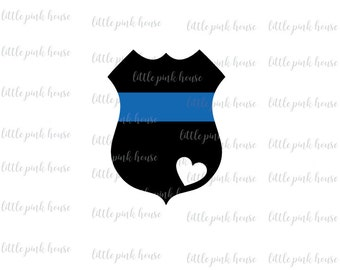 Police Badge SVG, Blue Lives Matter, Thin Blue Line, Police Badge, SVG, Police Officer, Digital Cut File, Instant Download, Cut File Design