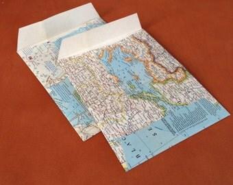 "Vintage Map Envelopes (6"" x 8"")"
