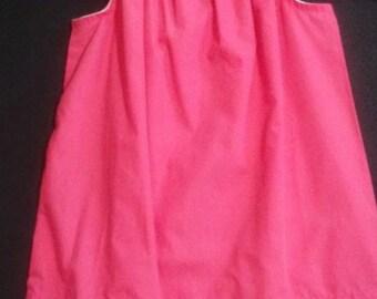 Girls Ruffled Neck Pillowcase Dress 4T