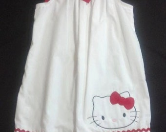Girl's White and Red Hello Kitty Dress 3T-4T
