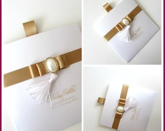 Wallet Invitation-customisable with printed names