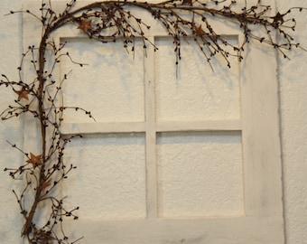 Primitive Wood Window Wall decor