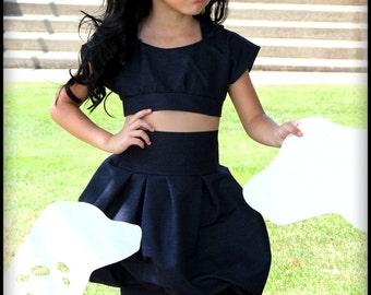 Bri Hooded Bubble Denim Skirt