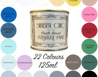Shabby Chic Chalk Paint 125ml Choice of 22 Colours