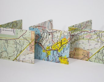 San Francisco & California Map Wallets
