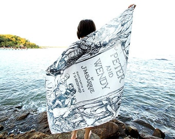 Peter and Wendy, Peter Pan Scarf - White