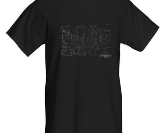 C64 Motherboard Schematic Mens T-Shirt. Black/White. All Sizes.