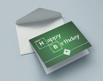 Breaking birthday - the birthday card for nerds, geeks & series fans
